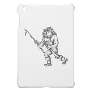 Bulldog Firefighter Pike Pole Fire Axe Tattoo iPad Mini Cases