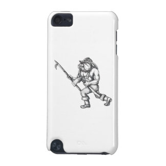 Bulldog Firefighter Pike Pole Fire Axe Tattoo iPod Touch (5th Generation) Cover