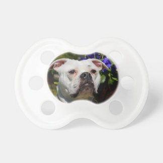 Bulldog Flowers Baby Pacifier