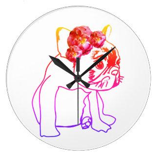 Bulldog French Buldog Puppy Sweet Dog Wall Clock