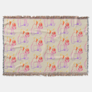 Bulldog French Buldog Puppy Sweet Throw Blanket