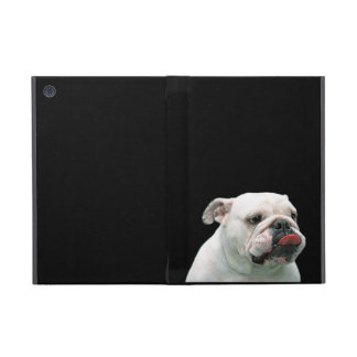 Bulldog funny face with tongue sticking out, gift iPad mini case