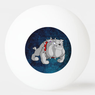 BULLDOG GRAY CARTOON PING PONG BALL