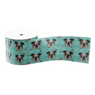 Bulldog Grosgrain Ribbon