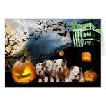Bulldog Halloween Card