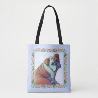 Bulldog has the Blues Tote Bag