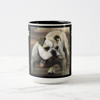BULLDOG / I ALSO DRINK & CUDDLE UP WITH THE LADIES Two-Tone COFFEE MUG