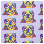 Bulldog in Colours Fabric