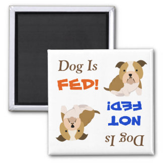 Bulldog Is Fed/Not Fed Magnet