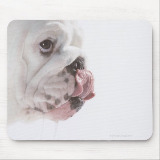 Bulldog Licking Mouse Pad