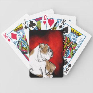 Bulldog Love Bicycle Playing Cards
