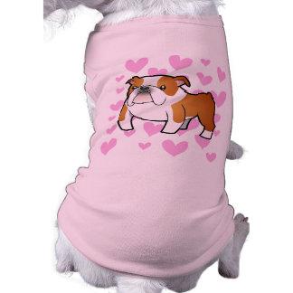 Bulldog Love Dog Tee Shirt