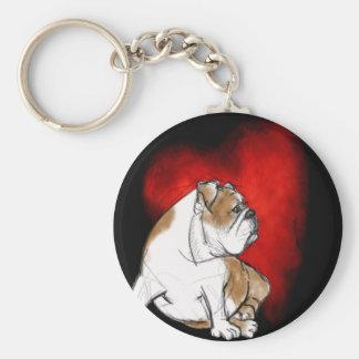 Bulldog Love Keychain