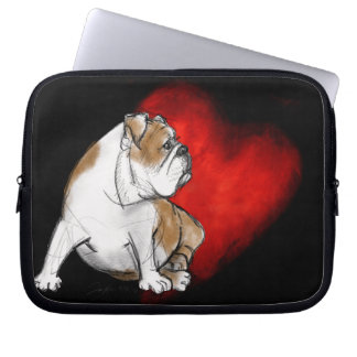 Bulldog Love Laptop Computer Sleeve
