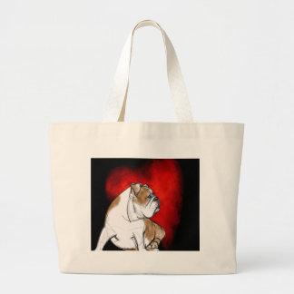 Bulldog Love Large Tote Bag