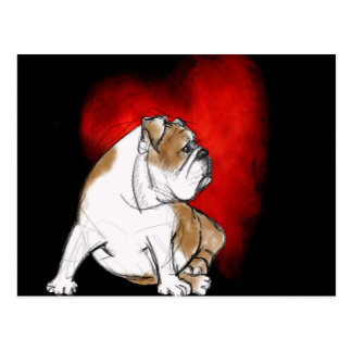 Bulldog Love Postcard