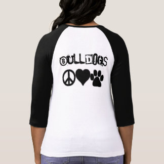 Bulldog Love Shirt- (signs/words on the back) T-Shirt