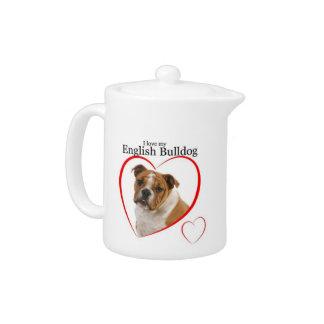 Bulldog Love Teapot