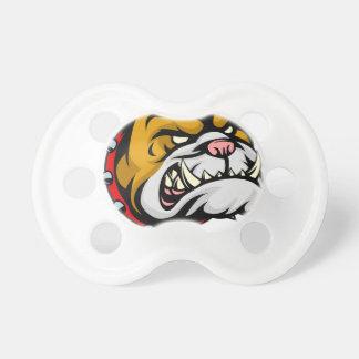 Bulldog Mascot Baby Pacifiers