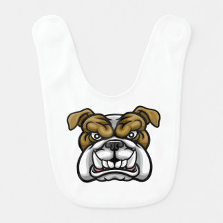 Bulldog Mean Sports Mascot Bib