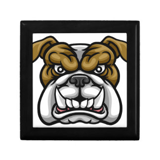 Bulldog Mean Sports Mascot Gift Box