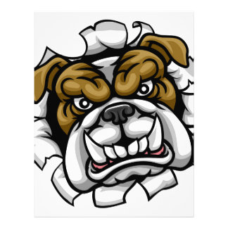 Bulldog Mean Sports Mascot Letterhead