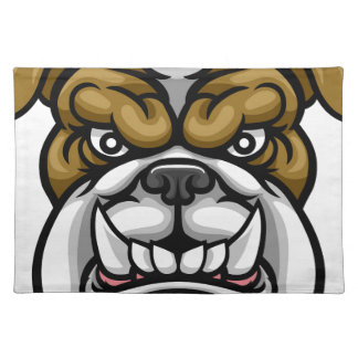 Bulldog Mean Sports Mascot Placemat