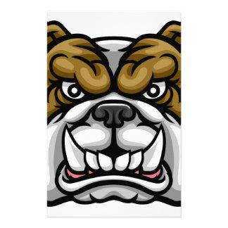 Bulldog Mean Sports Mascot Stationery