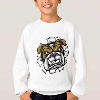 Bulldog Mean Sports Mascot Sweatshirt