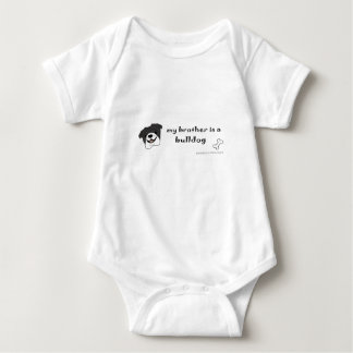 bulldog - more breeds baby bodysuit