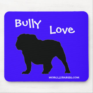 Bulldog Mouse Pad Blue