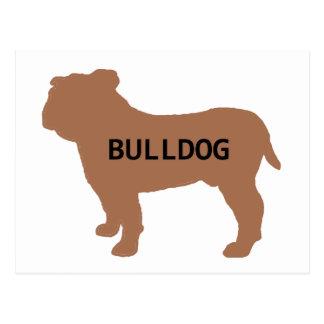bulldog name silo redd postcard