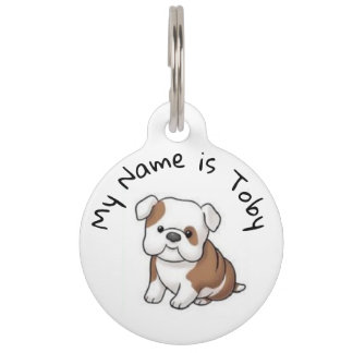 Bulldog Name Tag and Phone Number
