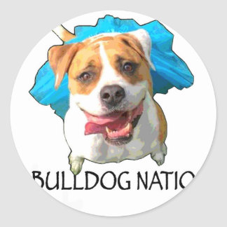 bulldog nation classic round sticker