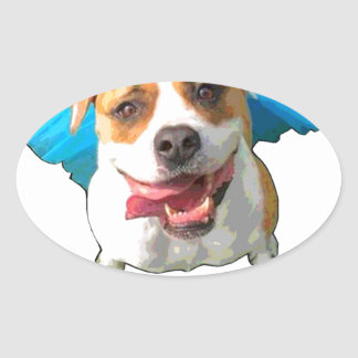 bulldog nation oval sticker