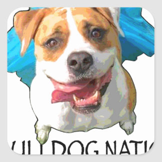 bulldog nation square sticker