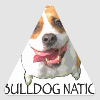 bulldog nation triangle sticker