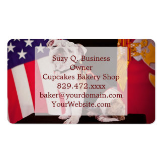 Bulldog Navy Official Mascot Dog Pack Of Standard Business Cards