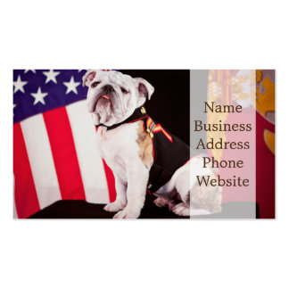 Bulldog Navy Official Mascot Dog Business Card