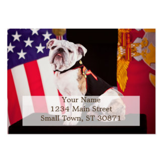 Bulldog Navy Official Mascot Dog Large Business Card