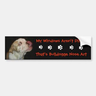 Bulldog Nose Art Bumper Sticker