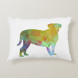 Bulldog of Bordeaux in watercolor Accent Pillow