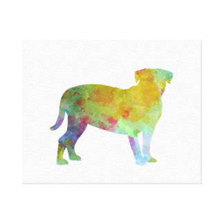 Bulldog of Bordeaux in watercolor Canvas Print