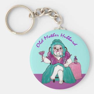 Bulldog Old Mother Hubbard Keychain