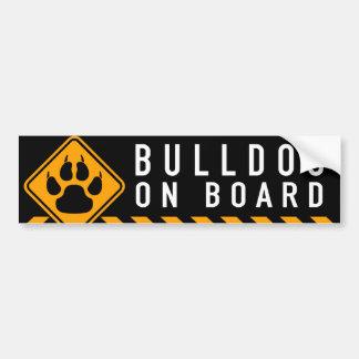 Bulldog On Board Bumper Sticker