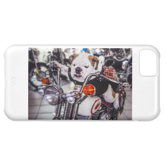 Bulldog on Motorcycle iPhone 5C Covers
