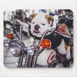 Bulldog on Motorcycle Mousepad