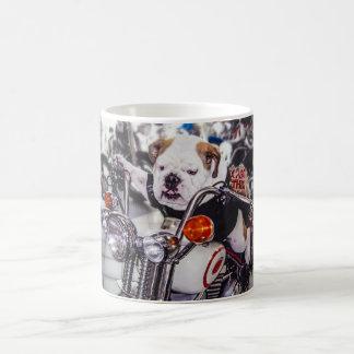 Bulldog on Motorcycle Mug