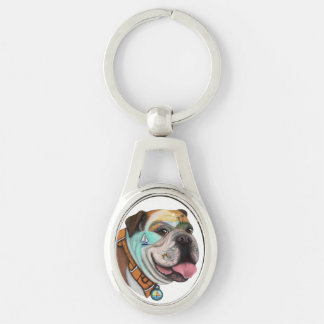Bulldog or Labrador Keychain Choices Customize