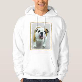 Bulldog Painting - Cute Original Dog Art Hoodie